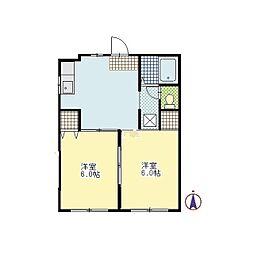 カナディアンハイツ和田[2階]の間取り