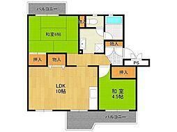 UR中山五月台住宅[8-104号室]の間取り
