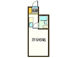 メゾン・ド・ノアロゼ錦町[1階]の間取り