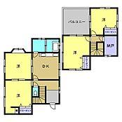 リフォーム後間取り図現在は1階に10畳と8畳の洋室と8畳のDK、2階に10畳と6.5畳の洋室と3畳の納戸、の4SDKです。2階には広々とした8畳のバルコニーがあります。