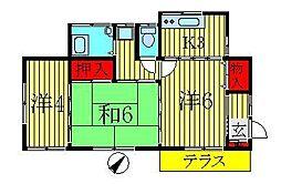 [一戸建] 千葉県流山市東深井 の賃貸【/】の間取り