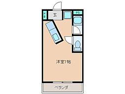 三重県松阪市末広町1丁目の賃貸マンションの間取り