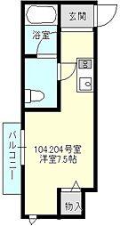 プランドール新横浜[104号室号室]の間取り