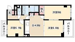愛知県名古屋市瑞穂区関取町の賃貸マンションの間取り