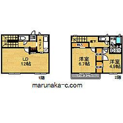 [テラスハウス] 東京都町田市金井4丁目 の賃貸【/】の間取り