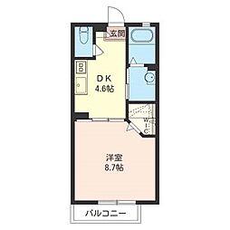 カーサドマーニ I[2階]の間取り
