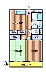 アムールオオカサ[1階]の間取り