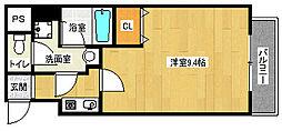 京都府京都市伏見区表町の賃貸マンションの間取り