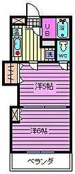 レジデンスカープ大宮[2階]の間取り