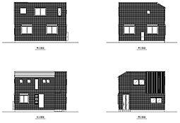 建物参考プラン 立面図