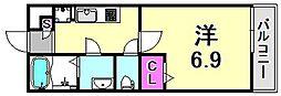 Maison de Moe 1階1Kの間取り