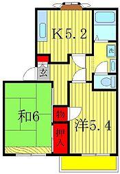サンハイムB棟[1階]の間取り