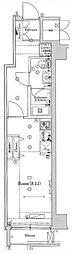 JR総武線 錦糸町駅 徒歩7分の賃貸マンション 2階ワンルームの間取り