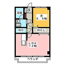 中秀ビル[4階]の間取り