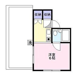 ハイツ中十条[3階]の間取り