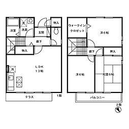 ガーデンテラス[1階]の間取り