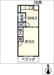 コーポ ハヤシ[2階]の間取り