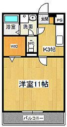 ドミール参番館1[3階]の間取り