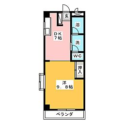 コーポ神野[3階]の間取り