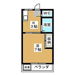 東簗ハイツ[2階]の間取り