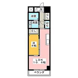 サロンサービスサイトミズノ[7階]の間取り