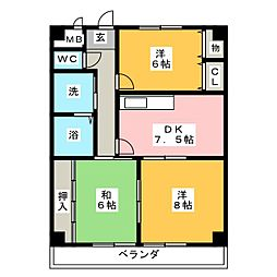 HOUSE松本[1階]の間取り