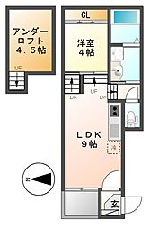 志賀本通ヒルズ[1階]の間取り