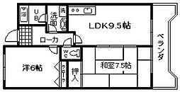 メゾンパークス[3階]の間取り