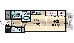 フィールドライト新大阪[6階]の間取り