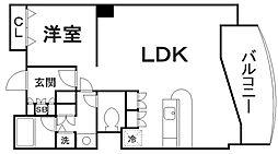 京都府京都市東山区清水4丁目の賃貸マンションの間取り