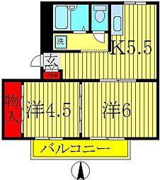 フローラ[1階]の間取り