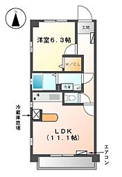 プリマベーラ龍ノ口[7階]の間取り