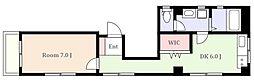 東急目黒線 武蔵小山駅 徒歩4分の賃貸マンション 1階1DKの間取り