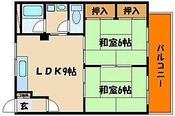 KKK第3ビル[4階]の間取り