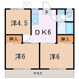 クボタハイツA[1階]の間取り