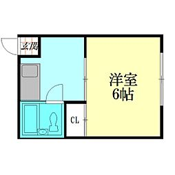 ハイツマエダ[2階]の間取り