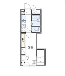 東京都調布市布田4丁目の賃貸アパートの間取り