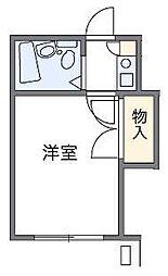 JR埼京線 与野本町駅 徒歩13分の賃貸アパート 1階1Kの間取り