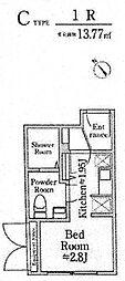 南平台EAST(A棟)[101号室]の間取り
