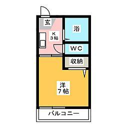 ジュネスサワダ[2階]の間取り
