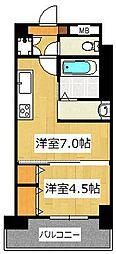 仮称)市川リーフクリスタルマンション[1−E1号室]の間取り