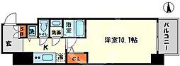 エスリード大阪心斎橋 8階1Kの間取り