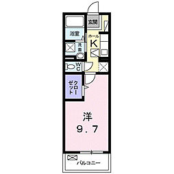 JR紀勢本線 紀和駅 徒歩3分の賃貸マンション 1階1Kの間取り