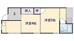 [テラスハウス] 大阪府大阪市鶴見区緑3丁目 の賃貸【/】の間取り