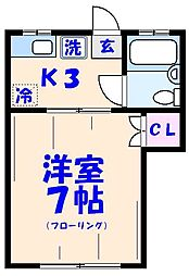 イオチハイツ1号棟[122号室]の間取り