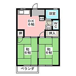 ロイヤル水谷A棟[2階]の間取り