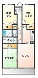 レインボーヒルズ21[2階]の間取り