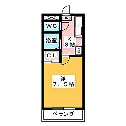 メゾンブローニュ 6[2階]の間取り