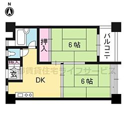 松ノ木町団地3号棟[619号室]の間取り