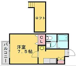 ルート多々良I[2階]の間取り